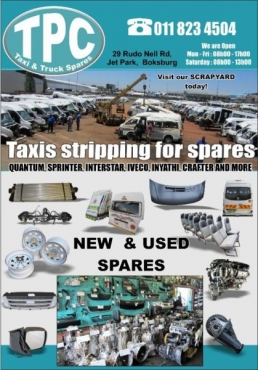 FOTON Stripping for used TAXI PARTS: Bumpers,Body Panels, Doors, Engine,Gearbox, any part you need