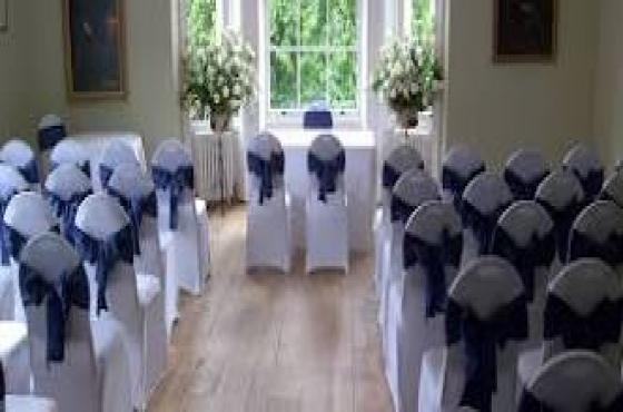 Chaircovers, Tiebacks, Table cloths
