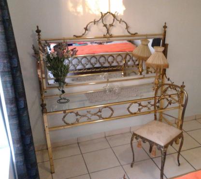 Vintage Queen Size Brass Bed Set