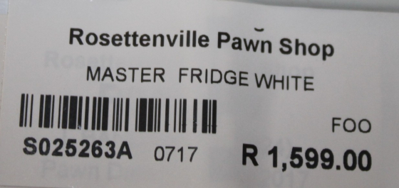 Master fridge S025263a
