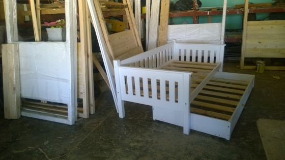 Day Bed With Roll - Out Bed Solid Wood