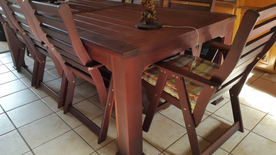 Imbuia Table and Chairs