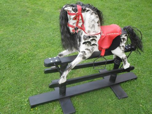 Carved Rockimg Horse