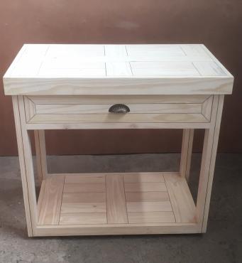 Kitchen Island Farmhouse series 1050 with 1 drawer mobile Raw