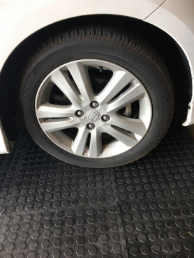 Wanted: Mag (4 holes) and tyre for Honda Jazz 2008 - Bridgestone Turanza 185/55 R17.