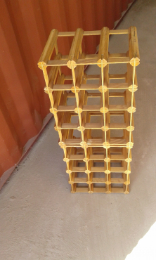 12 Bottle Wine rack, designer made with bamboo material expertly made-R250