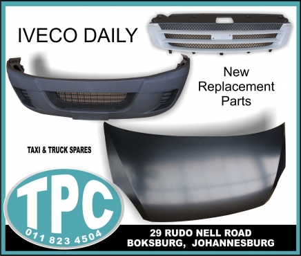 IVECO Daily New Replacement Parts: Fender,Bonnet,Grill,Radiator Cradle and more