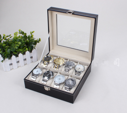 The PERFECT gift for him/her - a watch/ jewelry display case - PU leather.