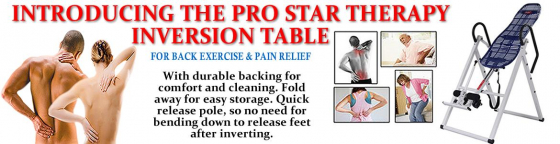Back Inversion Tables, Pro Star inversion table.
