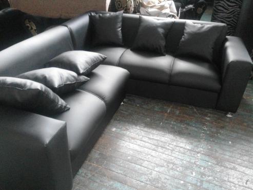 new leather L shape