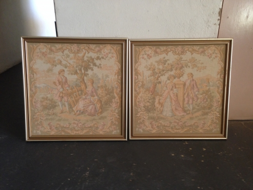 Framed tapestry set