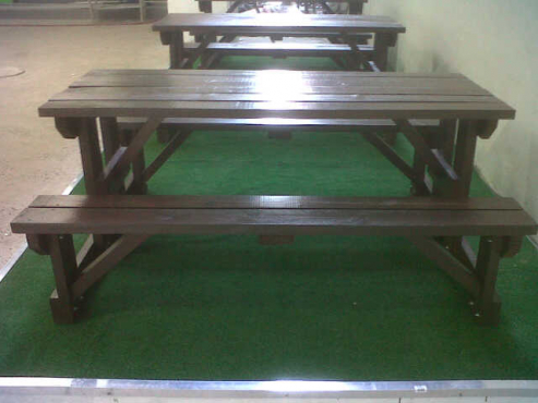 Outdoor bench tables