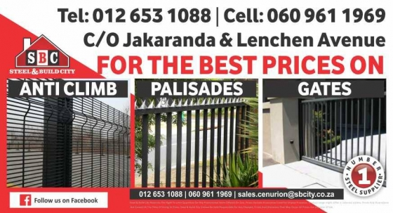 Steel fencing and ga