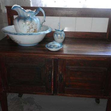 Antique Wash Table and Porcelein Set