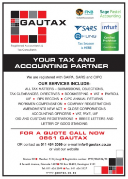 Full business accounting and payroll services from R1140 per month