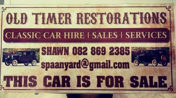Classic car sales, repairs and hire.