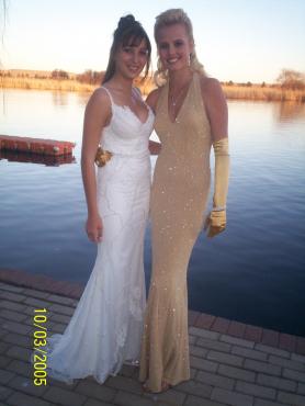 Beautiful gold evening dress