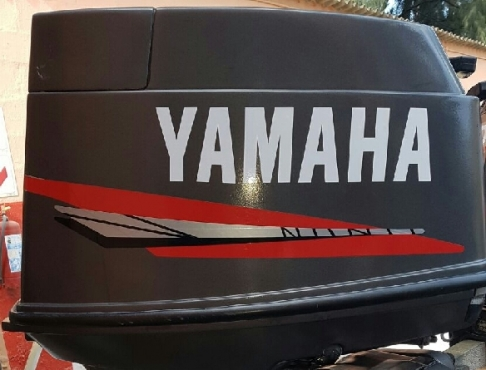 Graphics decals sticker set for a yamaha 40 HP outboard motor cowl
