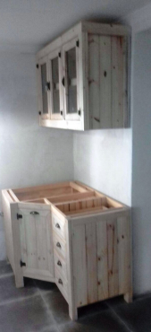 Kitchen Cupboard Farmhouse series 1300 Combo 1 Raw
