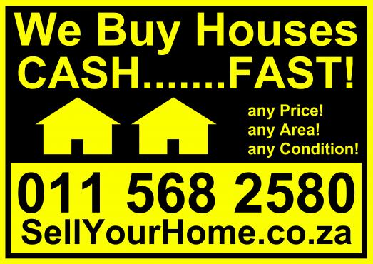 We buy houses CASH...........FAST!