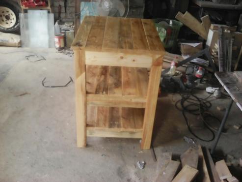 Oregon pine butchers table