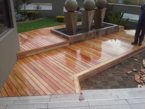Solid wooden floors and decks