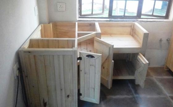 Kitchen Cupboard Scullery unit Farmhouse series 1200 Left Corner Raw