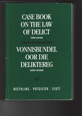 Legal Book-Law of Delict Case Law