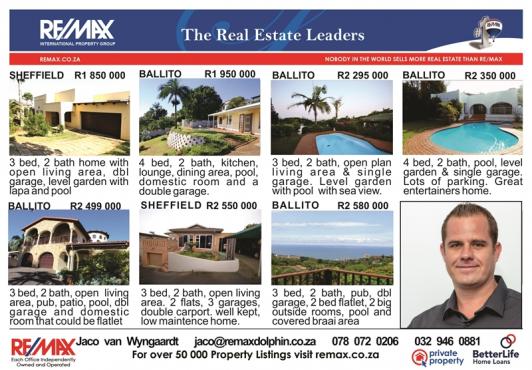 Houses in and around Ballito, KZN, Ballito