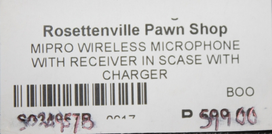Wireless microphone S024957b