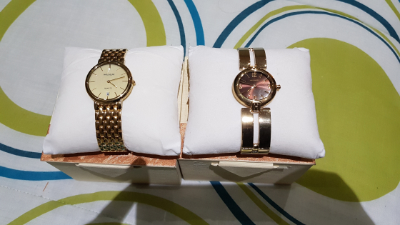 2x Hallmark Gold Watches - R1000 cash for both.