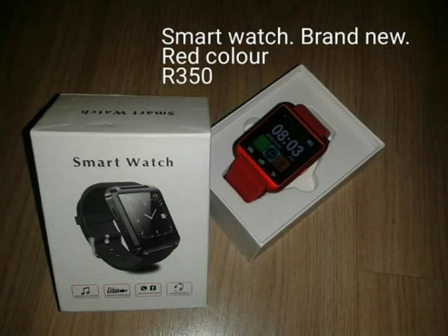 Red smart watch for sale