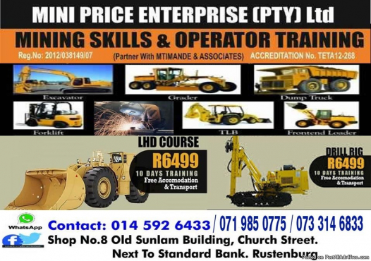 LHD scoop operators school 777 dump truck training fully registered 0733146833