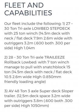 Tri-Axle Trucks and Trailers