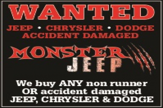 WANTED Jeep , Chrysler , Dodge accident vehicles