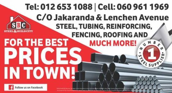 Steel, tubing reinforcing, fencing, roofing, etc