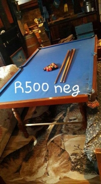 Pool table, balls for sale