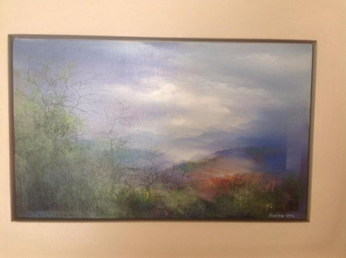 Painting by Anton Uys Fire in the Mist. Priced reduced to sell