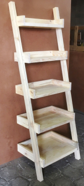 Display unit leaning ladder Cottage series 1900 Five tier Raw