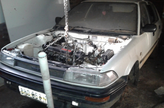 Toyota Conquest 1988 1200 12V. Ran a bearing