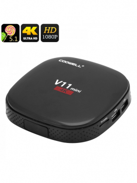 Android TV Box COOWELL V11 - 4K, Quad Core CPU, Miracast, Kodi, Android OS, SD Card, Wireless