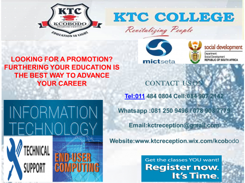 KTC COLLEGE is a lively and committed training provider  Full-time