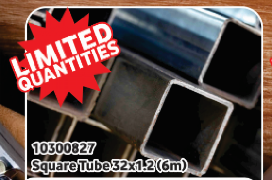 Square tubing - limited quantities