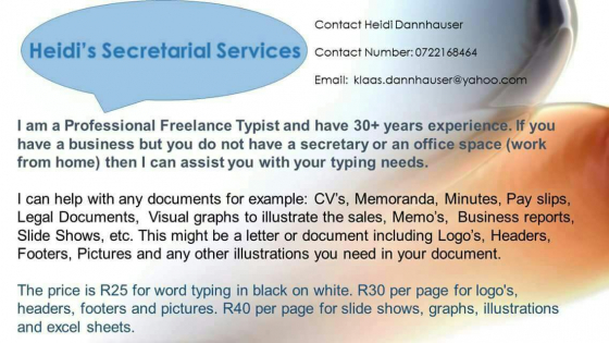 Work from home typing documents