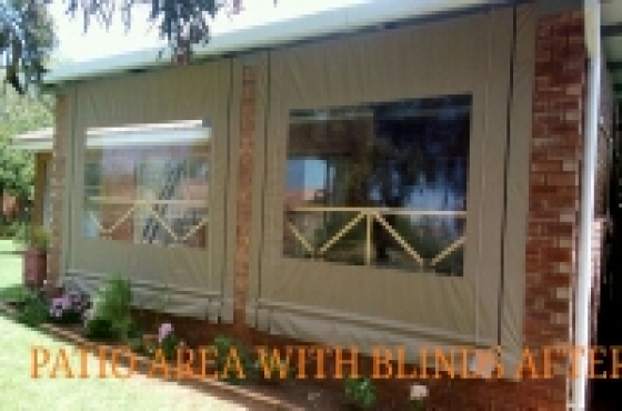 OUTDOOR PATIO COVERS & BLINDS