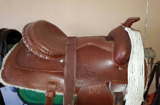 Jessie James Cowboy Saddle For Sale