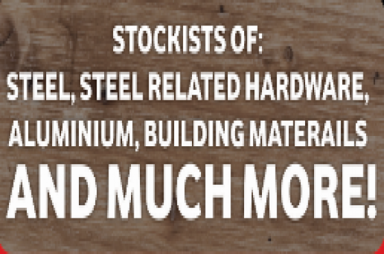 Stockists of: Steel, steel related hardware, aluminium, building materials