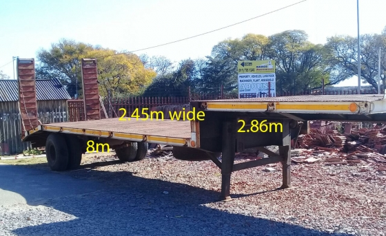 Second Hand Low Bed Trailer