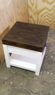 Night stand Farmhouse series 515 with 1 drawer Two tone
