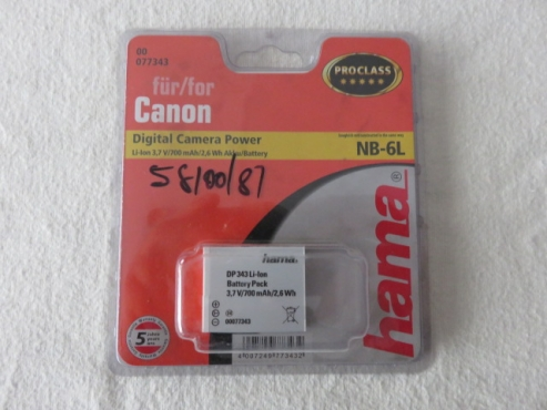 Canon NB-6L HAMA Batteries